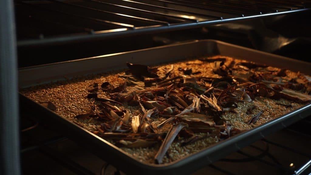 roast sticky rice herbs isarn