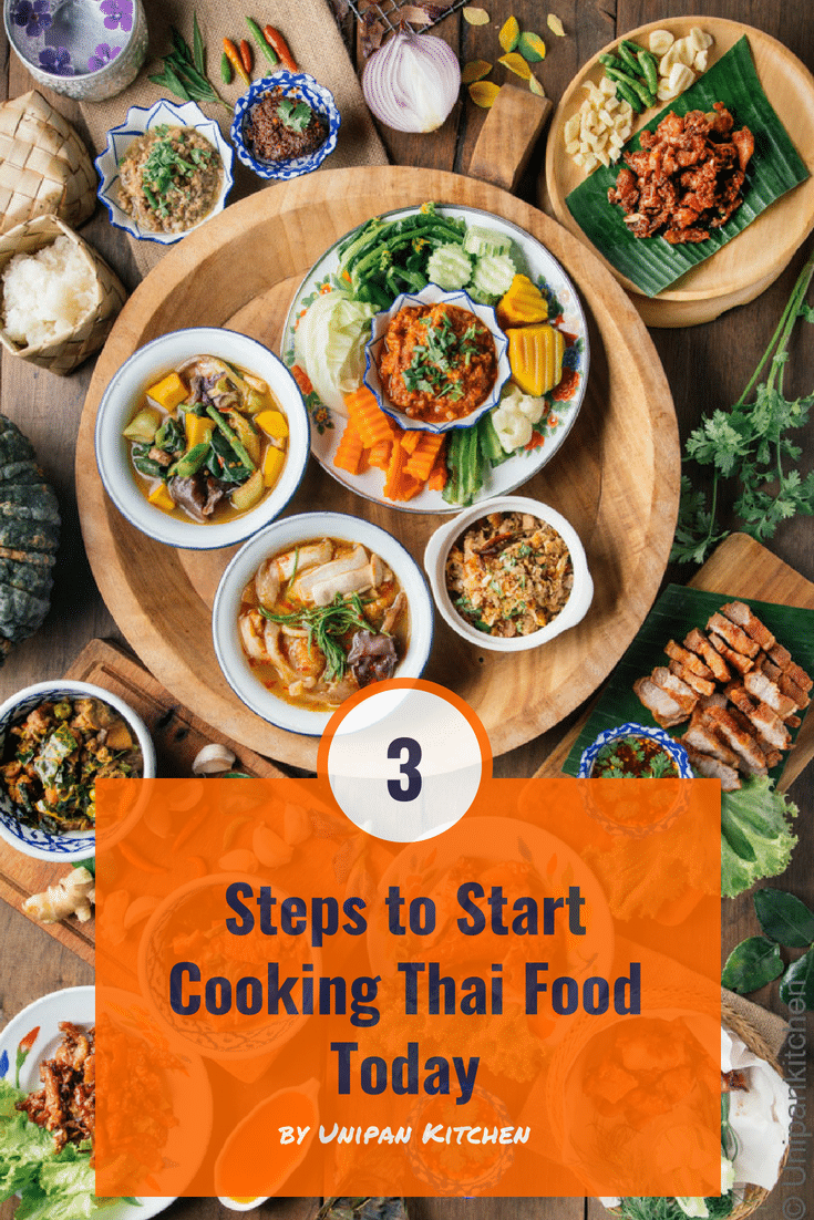 Cooking it yourself Thai food in 3 steps