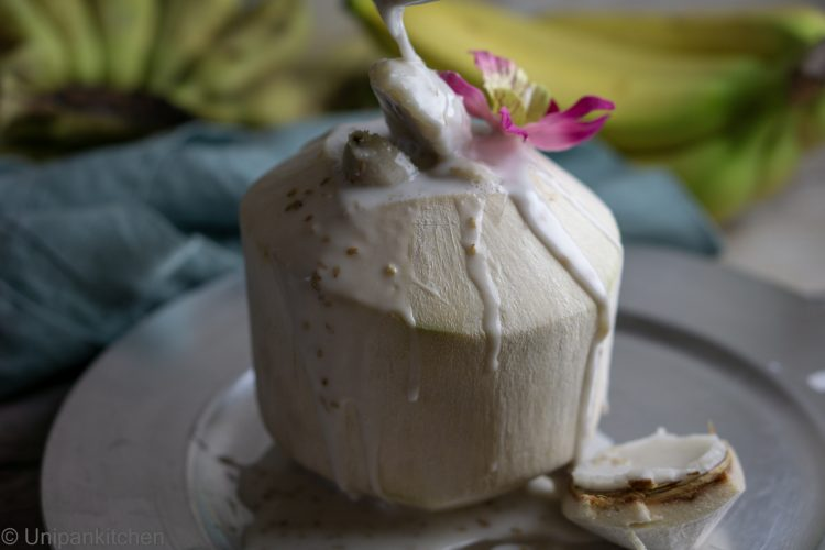 Sweet bananas in coconut milk