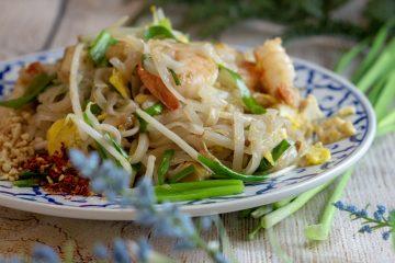 Shrimp Pad Thai, stir-fried noodle
