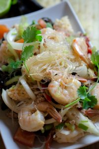 Seafood glass noodle salad