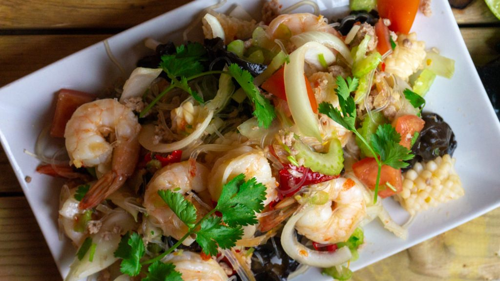 Quick and easy Seafood bean thread noodle salad
