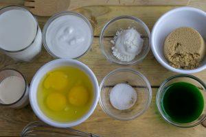 Thai Pandan custard ingredients