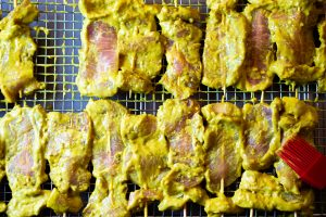 Pork satay marination