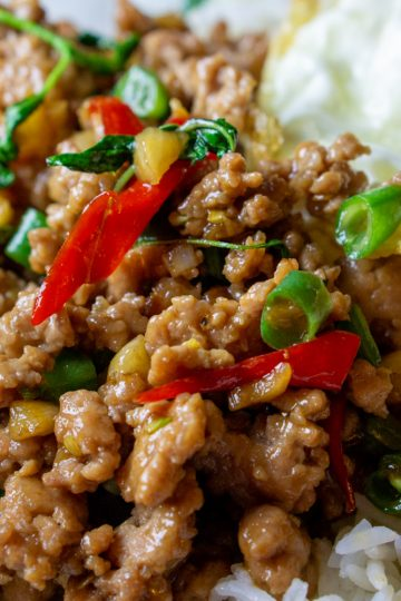stir-fried Thai basil with ground pork
