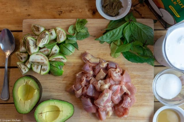 Avocado Green Curry ingredients